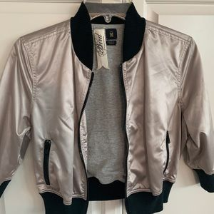 Bird Juicy Couture Cropped Bomber Jacket